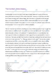 Tom Corridan | Fiction Analysis | 10 i karakter