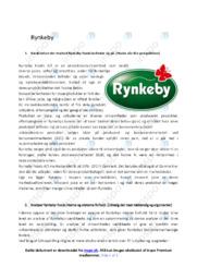 Rynkeby   Analyse   10 i karakter
