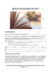 Boghandlerbranchen | Analyse | 12 i karakter