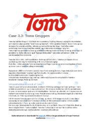 Toms Gruppen | Analyse | 12 i karakter