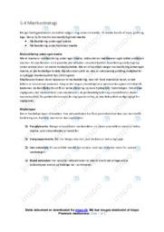 Mærkestrategi | Noter Afsætning
