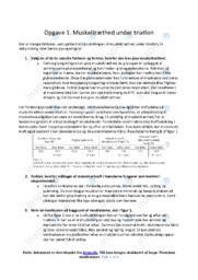 Muskeltræthed under triatlon | Biologi | 10 i Karakter