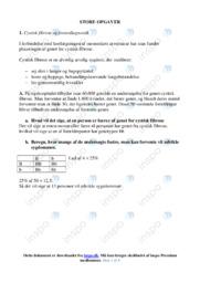 Cystisk fibrose og fosterdiagnostik | Noter