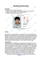 Blodtype bestemmelse   Forsøg