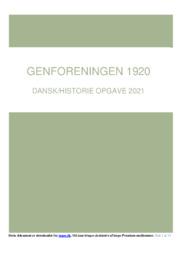 Genforeningen 1920 | DHO | 10 i Karakter