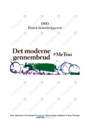 Metoo bevægelsen efter det moderne gennembrud   DHO