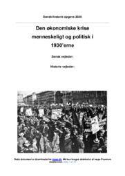 Den økonomiske krise i 1930   DHO   10 i Karakter