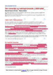 Romantik & Nationalromantik i 1800-tallet   Noter DHO