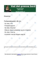 Det grønne bord | Opgave | 10 i karakter