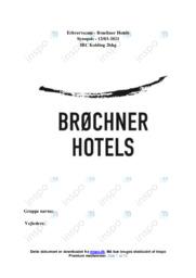 Brøchner Hotels   Erhvervscase   10 i Karakter