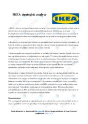 IKEA   Strategisk analyse   10 i karakter
