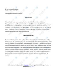Romantikken   Analyse   10 i karakter