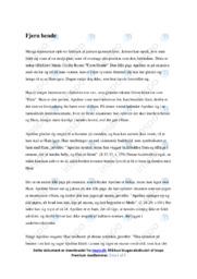 Fjern hende | Analyse | 10 i karaker