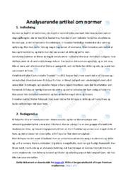 Normer | Analyse | 10 i karakter