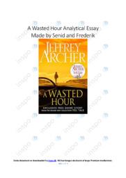 A Wasted Hour   Analytical Essay   10 i karakter