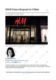 HM Faces Boycott in China | Analysis