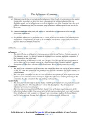 The Influencer Economy | Marketing | 12 i karakter