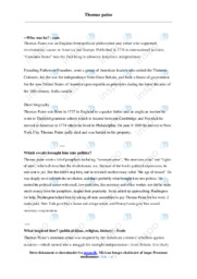 Thomas paine | Opgave | 12 i karakter