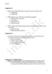 McDonalds – Assignment   Engelsk HHX