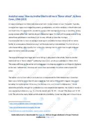 Honor attack   Analytical essay   10 i karakter