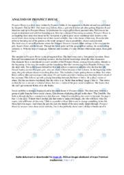 Prospect house | Analyse | 10 i karakter