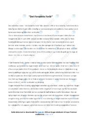 Analyse af Det Forsømte Forår   analyse