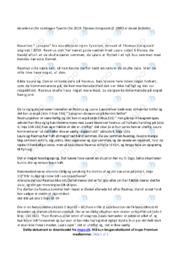 Tyverier   Analyse   Thomas Korsgaard   10 i Karakter
