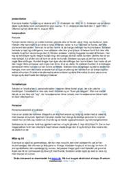 Fyrtøjet | Noter Analyse | H. C. Andersen