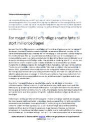 Analyse af milionbedrageri Dansk