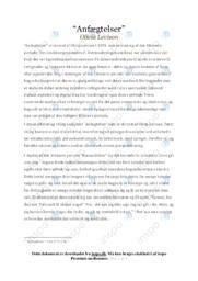 Anfægtelser af Olivia Larsen   Analyse