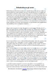 Debatkulturen på nettet | Analyse og essay