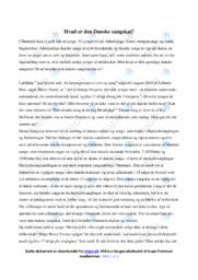 Den danske sangskat | Analyse | Dansk