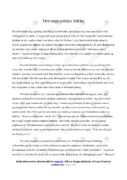 den unge soldats lidelser i krig | Analyse