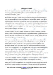 Eagles | Analyse | Stefan H. Lindén | 10 i Karakter