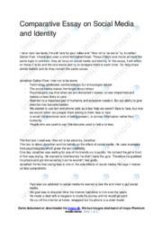 Social Media and Identity | Comparative Essay