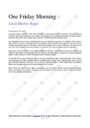 One Friday Morning | Analyse | Langston Hughes | 10 i Karakter