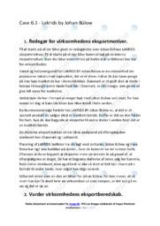 Lakrids by Bülow   Afsætning Case