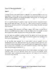 Benzinmarkedet | Afsætning Case | 10 i Karakter