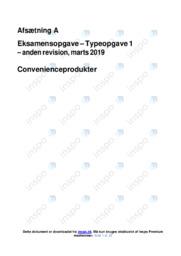 Convenienceprodukter   Afsætning   10 i Karakter
