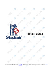 Stryhn's AS | Afsætning Case | 10 i Karakter