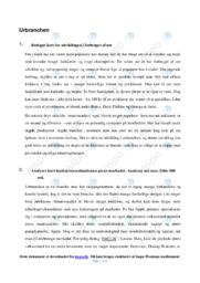 Urbranchen | Afsætning Case | 10 i Karakter