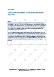 Opgave 1-6 | Engelsk Aflevering | 10 i Karakter