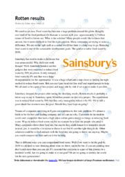 Sainsbury   Essay   10 i karakter
