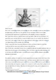 Speech | Engelsk Aflevering | 10 i Karakter