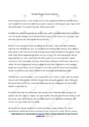Victory Speech   Analyse   Donald Trump   10 i Karakter