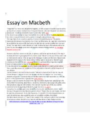 Macbeth | Engelsk Essay | 12 i Karakter