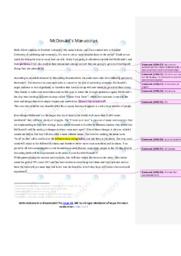 Macdonalds bussines strategies |Speech | Engelsk