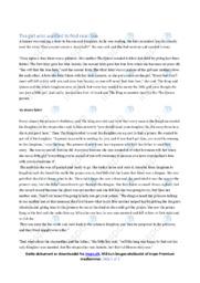 An english fairy tale | Summary | Engelsk