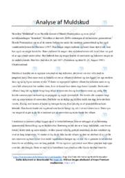 Muldskud   Analyse   Henrik Pontoppidan   10 i Karakter