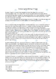 Novellen fingre | Analyse og fortolkning
